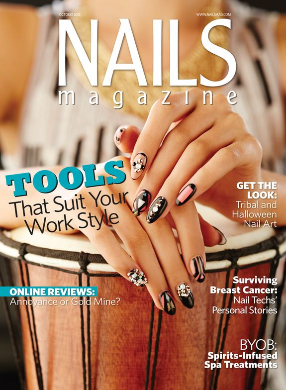 """<p>Get the tribal-inspired look from our October 2015 cover: <a href=""""http://www.nailsmag.com/demoarticle/113023/behind-the-scenes-tribal-nail-art"""">http://www.nailsmag.com/demoarticle/113023/behind-the-scenes-tribal-nail-art</a></p>"""