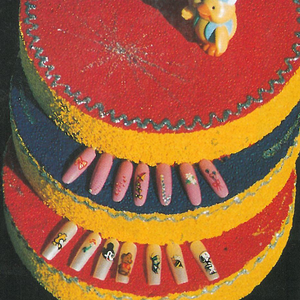 Vicki Yankee says displaying nail art designs on a three-layer cake makes it easier for kids to...