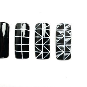 Nail Art Studio: Black and White Geometrics