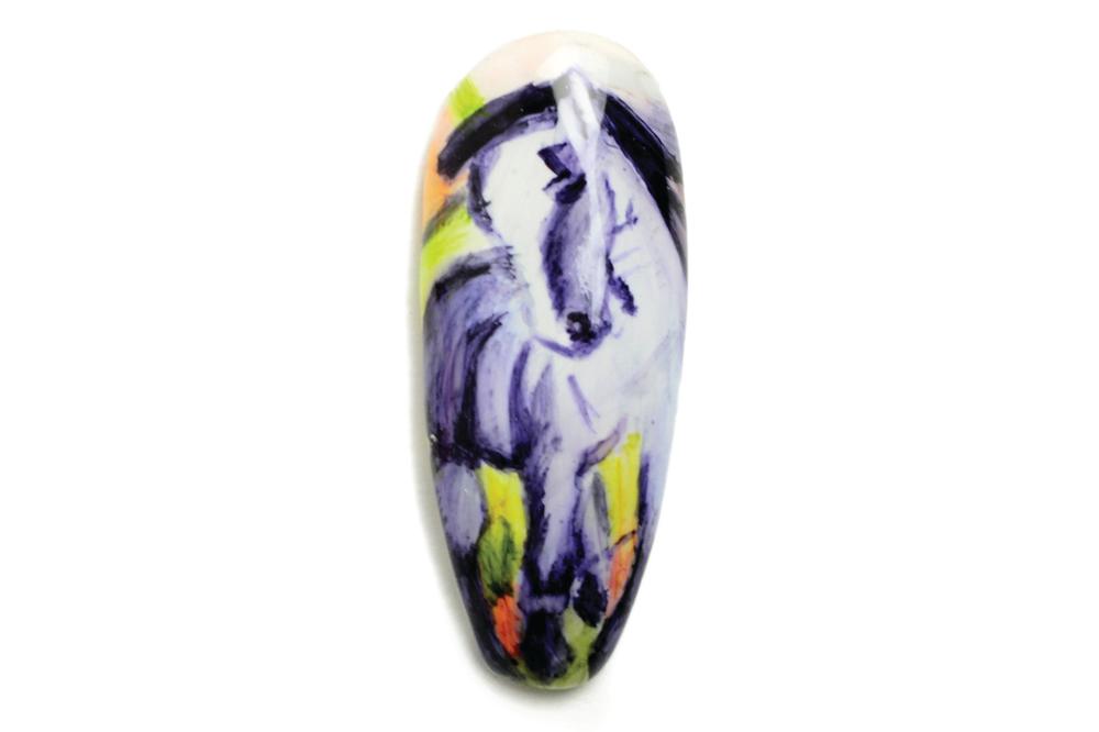 "<p>Jennifer Hans, Englewood, Colo. <br />""Blue Horse 1"" by Franz Marc</p>"