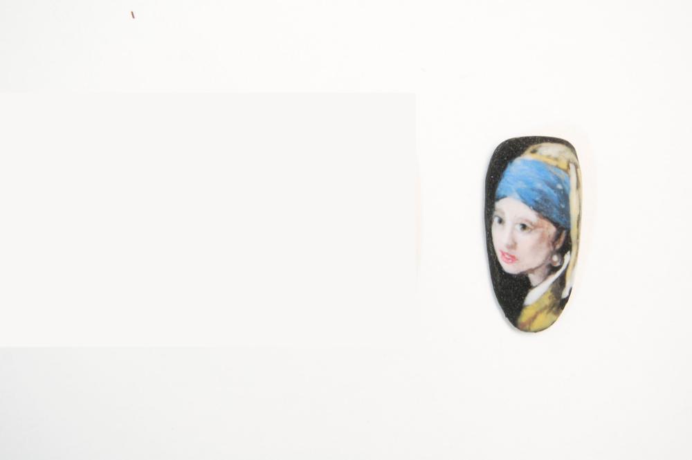 """<p>Cassandra Clark, Aubrey, Texas</p> <p>""""Girl with a Pearl Earring"""" by Johannes Vermeer</p>"""
