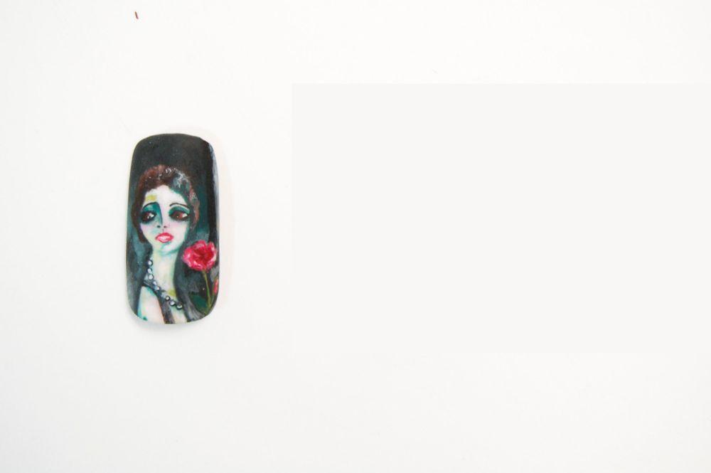 "<p>Jennifer Guthrie, Claremont, Calif. ""Portrait de Madeleine Grey a la Rose"" by Kees Van Dongan</p>"