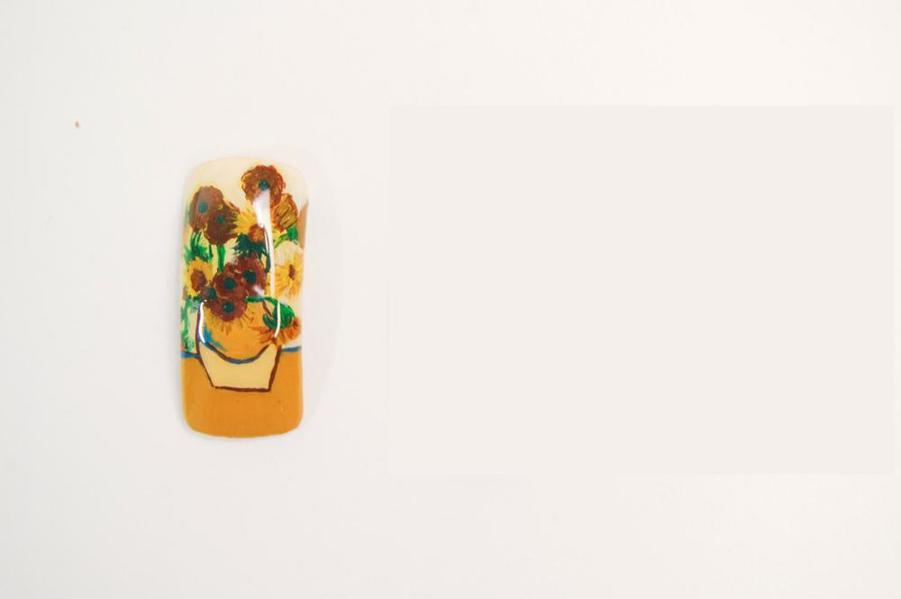 "<p>Adelaida Guzman, Camden, NJ.</p> <p>""Vase with Fifteen Sunflowers,"" by Vincent Van Gogh</p>"