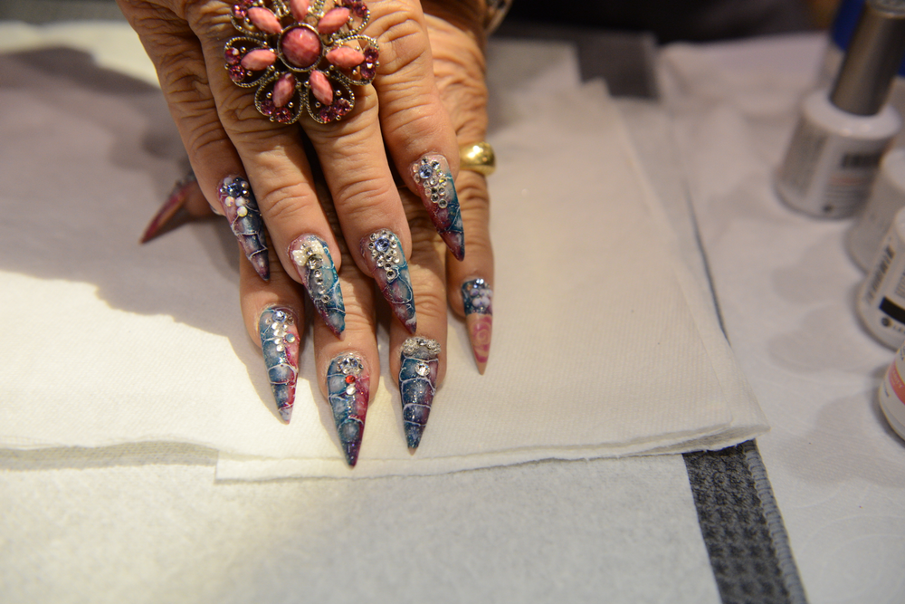 <p>Nails by Blanca Reyes, Le Chat Educator</p>