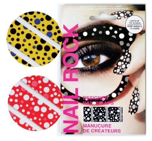 """<p class=""""sidebar-WhitneyBASICTEXT"""">London-based Nail Rock designs wraps that aim to stay up to date with trending fashion patterns. A vast choice of styles including metallic gold, silver, polka dots, and animal prints are available. Wraps last up to seven days on fingers and eight weeks on toes.&nbsp;<a href=""""http://www.nailrock.com"""">www.nailrock.com</a></p> <p><span style=""""color: #000000; font-size: medium;"""">&nbsp;</span></p>"""