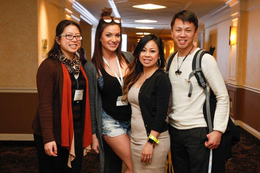 <p>NAILS/VietSALON's Kim Pham finally got to meet Seattle-based Sensé Nail Spa's Daniella Carpenter, Victoria Estrella, and Robert Luu, who flew down for the show.</p>