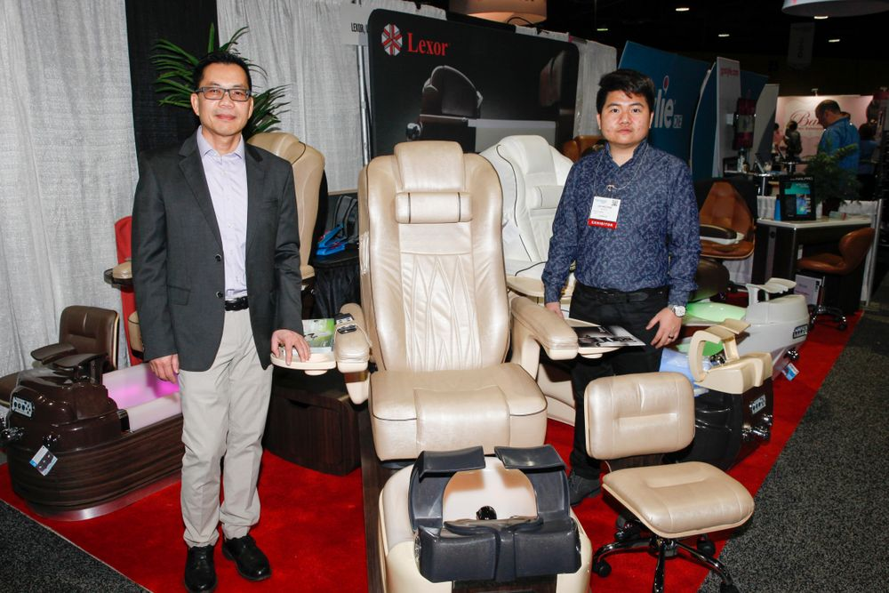 <p>Lexor promoted the new Prestige pedicure spa chair.</p>
