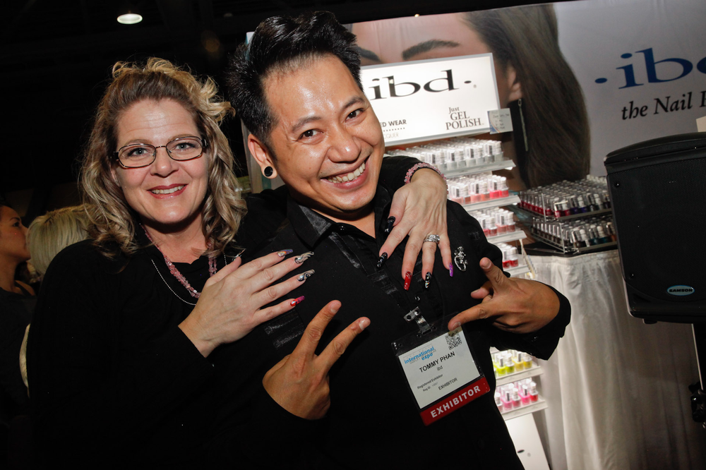 <p>IBD's Lorene Golling and Sean Phan</p>