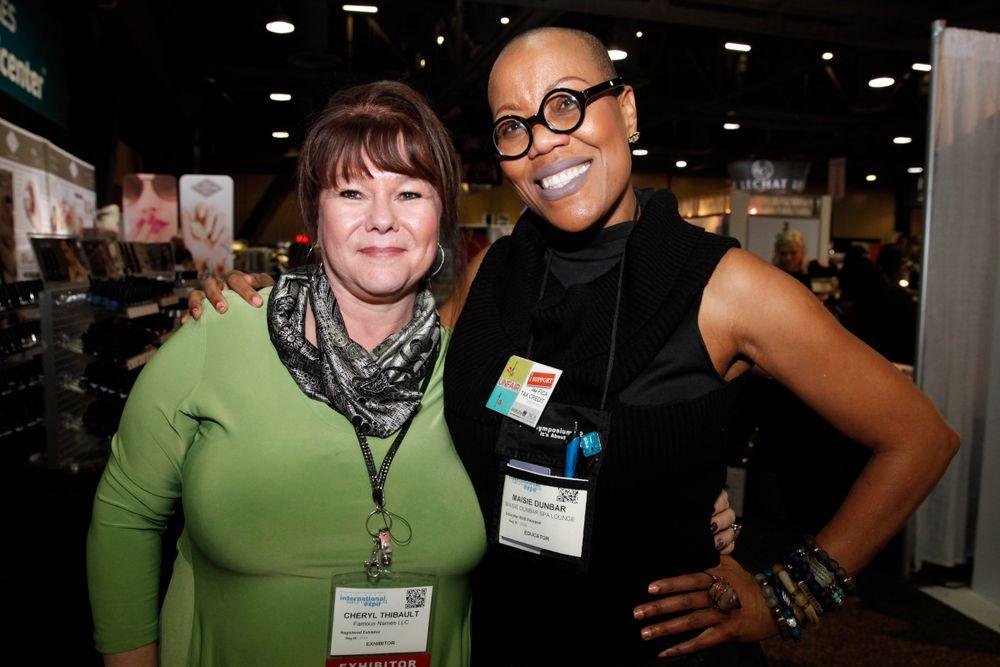 <p>Mirage Spa Education's Cheryl Thibault and Maisie Dunbar</p>