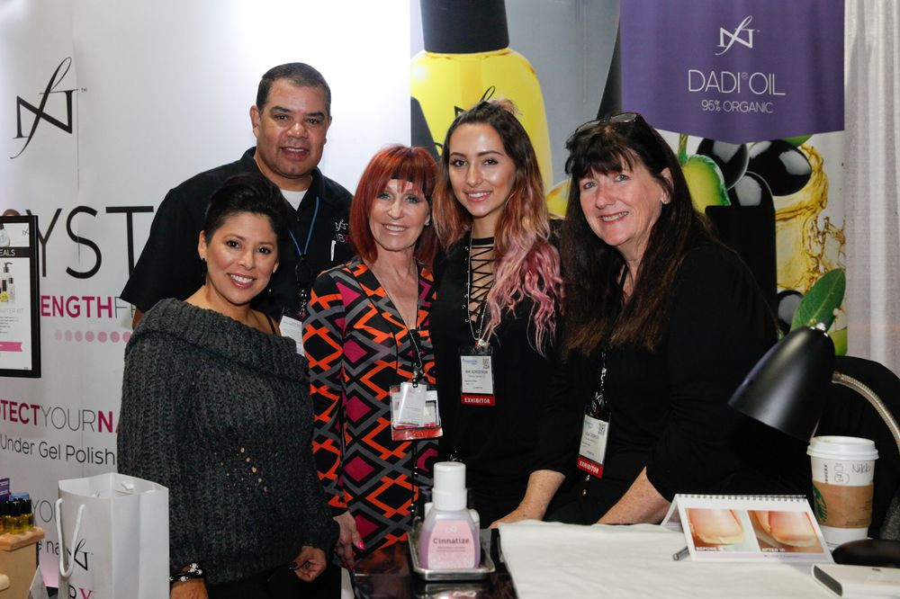 <p>Famous Names' Lisa Wong, Ken Cooper, Linda Nordstrom, Niki Nordstrom, and Lisa Cooper promoted the company's new Dadi Oil lotion.</p>