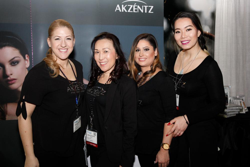 <p>Akzéntz' Gina Rinaldi-Silvestro, Yuriko Hoshina, Olivia Clements, and Jade Tang</p>