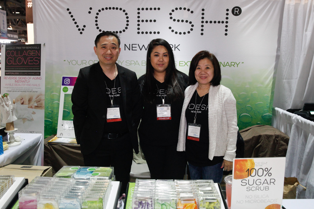<p>Voesh New York's Guy Wong, Faith Roxas, and Bezu Wong</p>