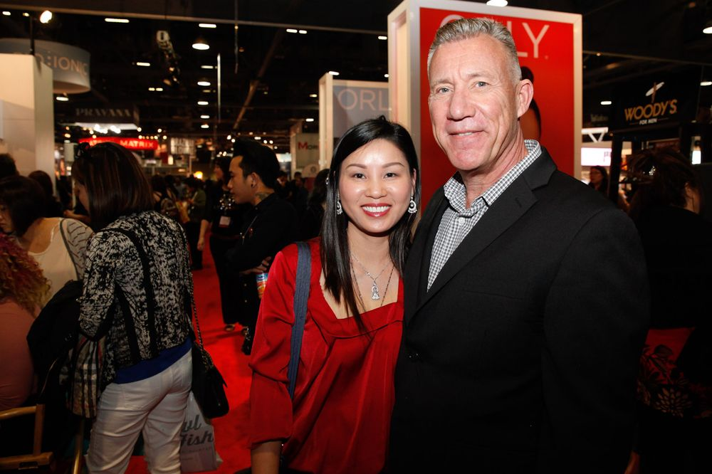 <p>Tammy Tran and Kupa's Richard Hurter</p>