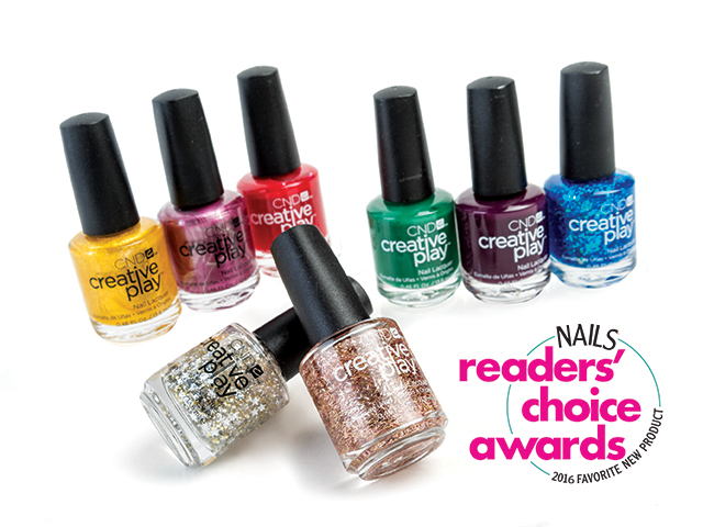 "<p class=""p1"">With the introduction of Creative Play nail lacquer, <span class=""s1"">CND </span>completed its portfolio of polishes. This anything-but-traditional nail lacquer boasts 80 colors and over 12 finishes (metallics, glitters, pearls, etc.) and encourages nail techs to play outside the box.</p> <p class=""p2""><span class=""s2""><strong>www.cnd.com</strong></span></p>"
