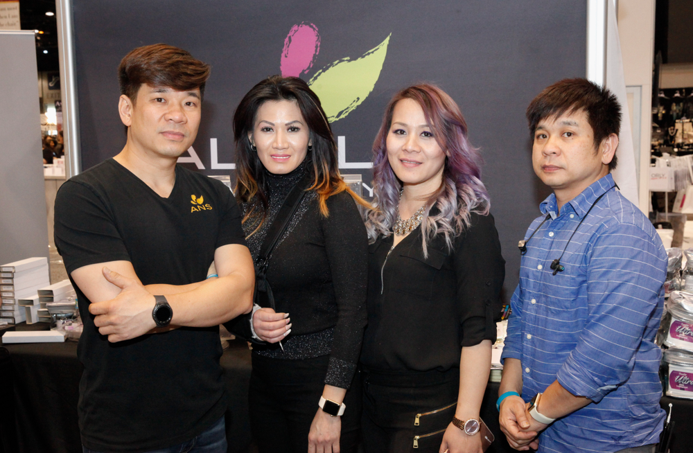<p>Alfalfa Nail Supply's Dat Ton, Lilly Nguyen, Katie Nguyen, and Hien Ton</p>