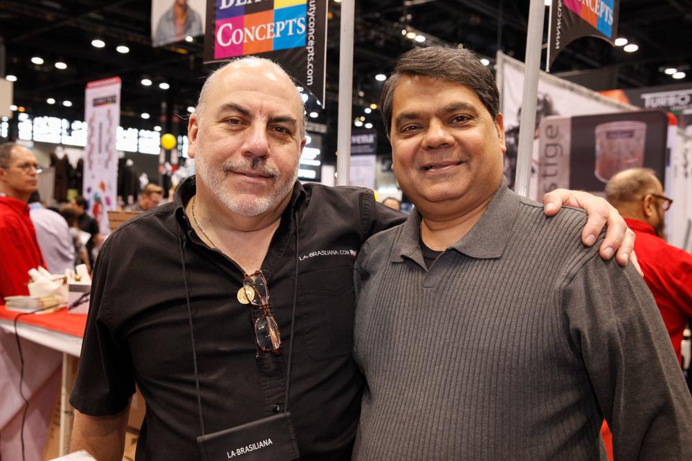 <p>La-Brasiliana's Armando Brasiliana and American Dawn's Ron Kothari</p>