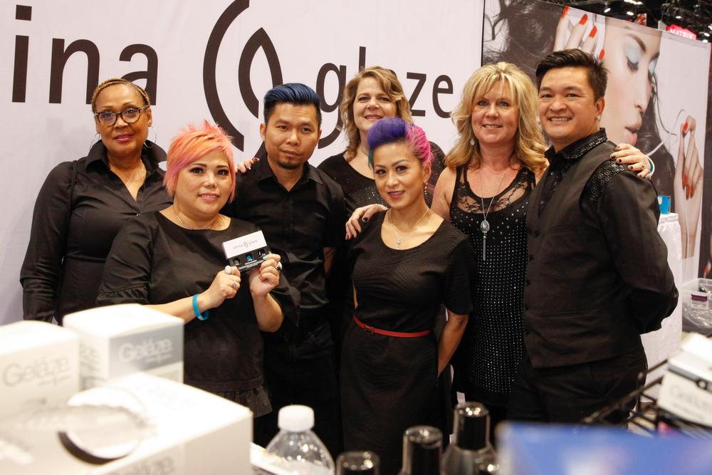 <p>China Glaze's Lynn Long, Dawn Doan, Lefty Nguyen, Lorene Golling, Linda Lam, Tonya Odell, and Matthew Nguyen</p>