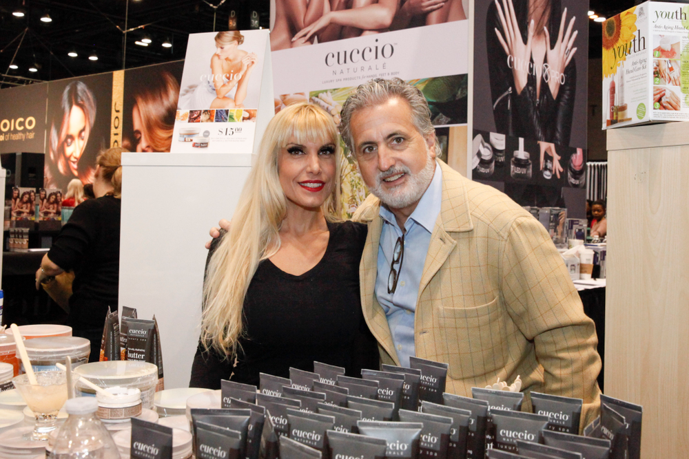 <p>Cuccio's Griselle Nodarse and Robert Novak</p>
