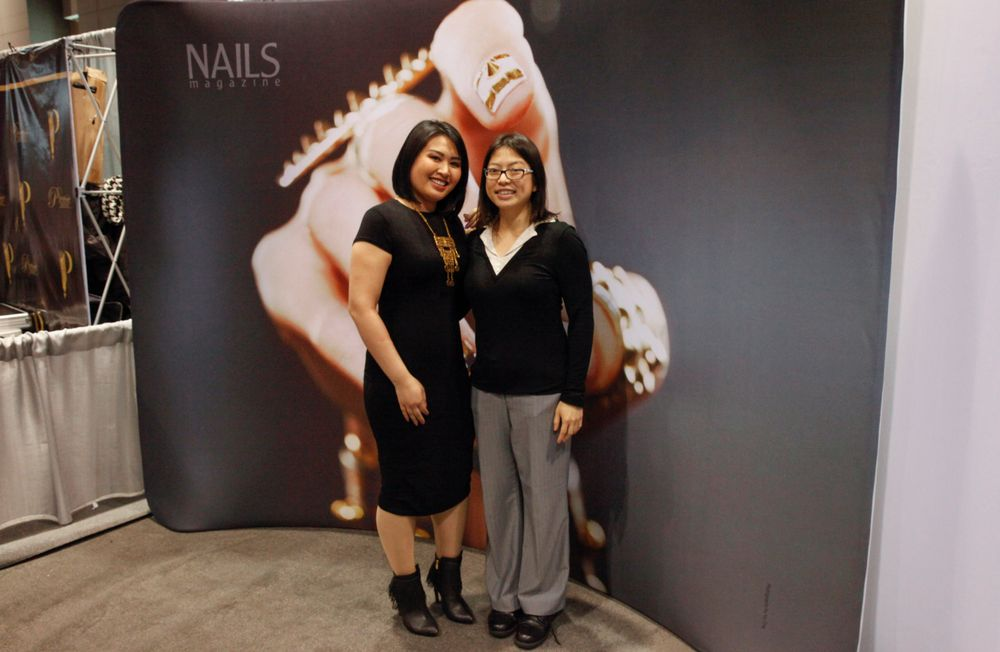 <p>Thao Duckie Huynh and NAILS/VietSALON senior editor Kim Pham</p>