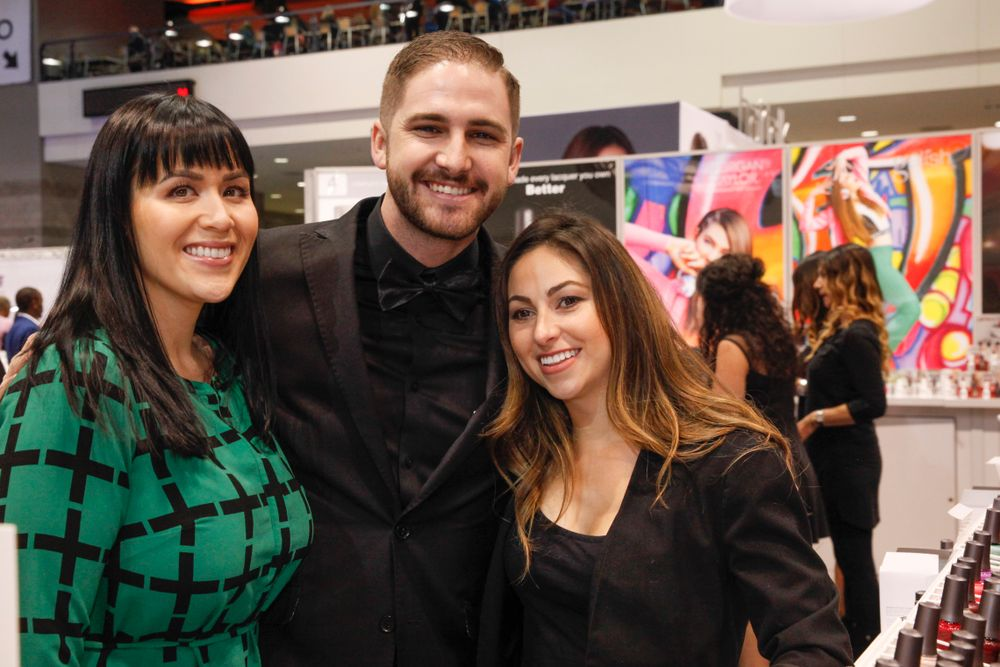 <p>Morgan Taylor social media manager Lillian Estrada, Jake Daniel, and Morgan Haile</p>
