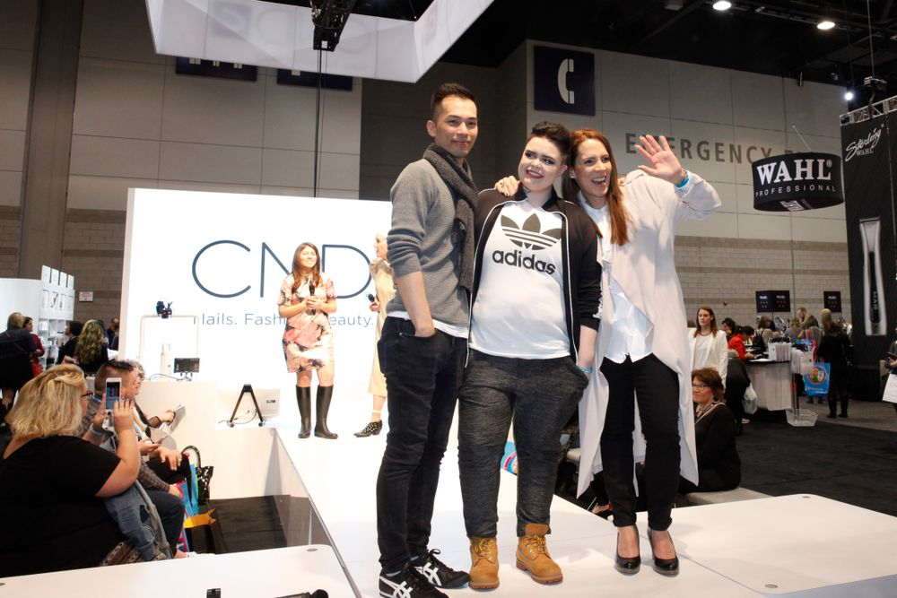<p>NAILS Next Top Nail Artist Top 3 competitiors Jonny Diep Pham, Liina Leino, and Tracey Lee at the Q &amp; A session, the last part of the Final Challenge.</p>