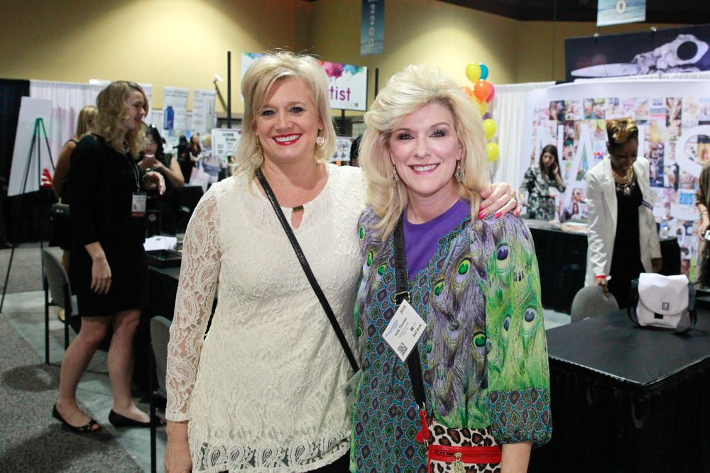 <p>Kim Rayl and Kelly Thomas stopped by the NAILS booth all the way from Signature Day Spa in Athens, Tenn. They attend ISSE Long Beach every year.</p>