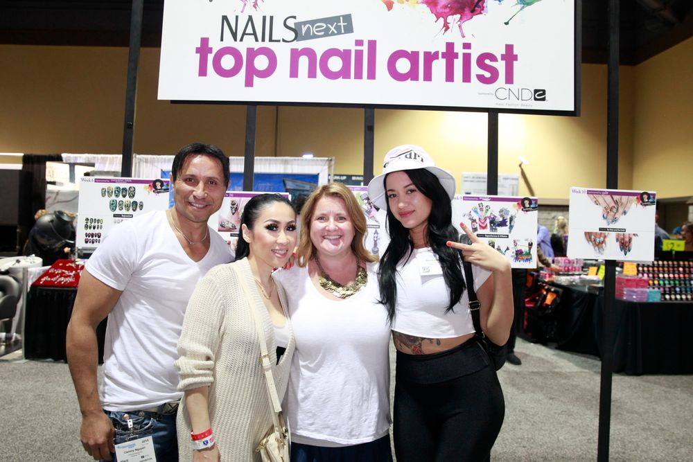 <p>The Blossom Beauty Loung staff with NAILS editor Hannah Lee</p>