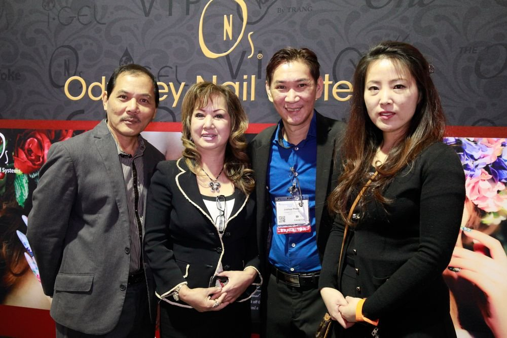 <p>Odyssey Nail Systems' Khoi Nguyen, Charlie Vo, Joseph Pham, and Mira Song demonstrated ONS' new products at ISSE Long Beach, all while the company hosted the 9th Global Nail Cup in Seoul, South Korea.</p>