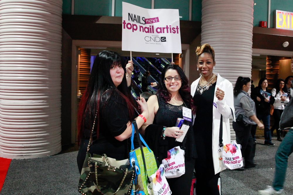<p>NAILS NTNA Top 3 arriving on the show floor.</p>