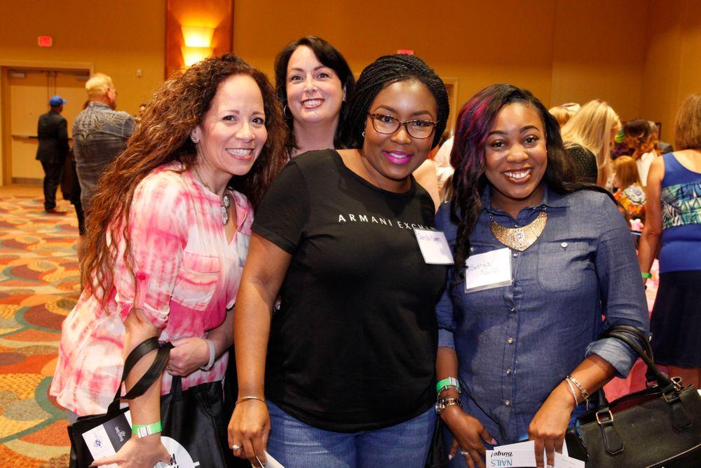 <p>Danalynn Stockwood, Lois Crispino, Ashleigh Lawrence, and Sasha Richardson</p>