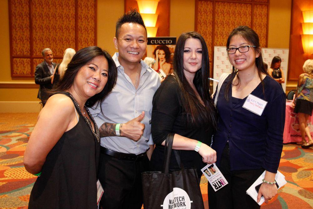 <p>Dee Nguyen, Tan Nguyen, Alecia Mounixay, and NAILS/VietSALON's Kim Pham</p>