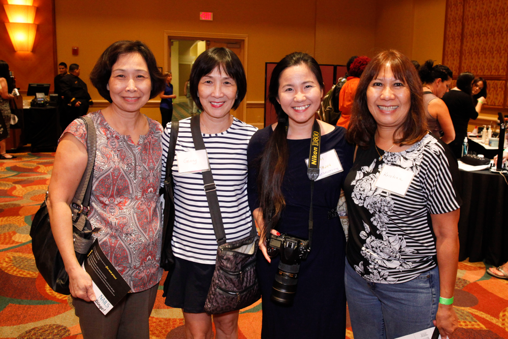 <p>VietSALON's Anh Tran (second from the right) with Mai Pham, Giang Pham, and Kristina Nguyen</p>