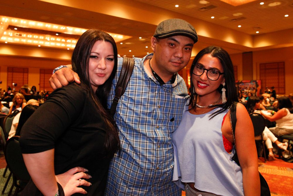 <p>Alecia Mounixay, Kenny Vo, and Color Club's Lisa</p>
