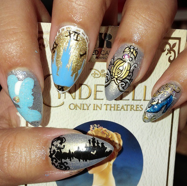 <p>Second place for flat art in Gelish &amp; Morgan Taylor's Mani at Midnight Contest went to @nailsbylykecandy</p>