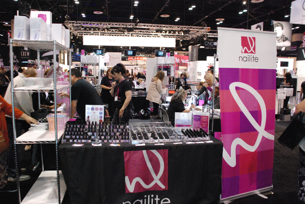 <p>Nailite's booth was low on stock by Monday afternoon</p>