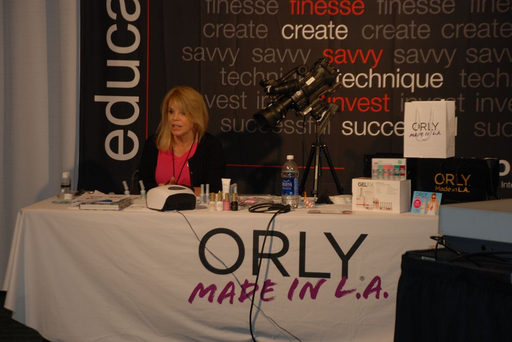 <p>Elsbeth Schuetz teaches a two-hour nail art workshop given by Orly International</p>