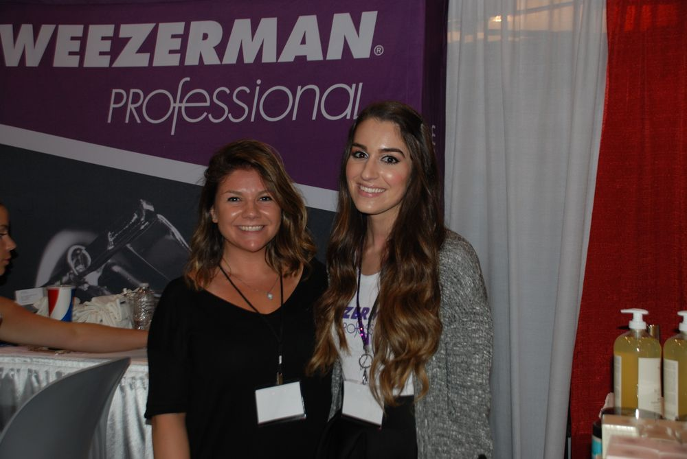<p>Tweezerman's Danielle Epifanio and Kim Nuzzolo</p>