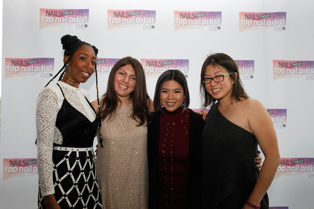 <p>Lavette Cephus, Beth Livesay, Winnie Huang, and NAILS/VietSALON's Kim Pham</p>