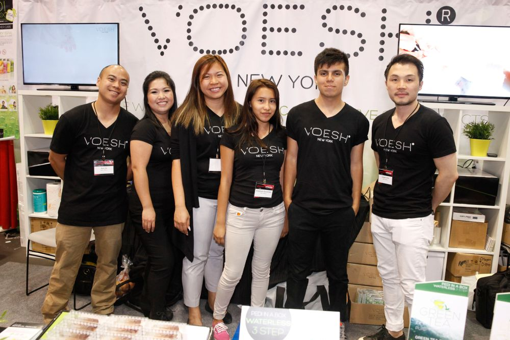 <p>The Voesh New York + Nail Mall team &mdash; Ken Ho, Jenna Ott, Thao Duong, Elizabeth Escandon, Bryan Aguilar, and Josep Choi</p>