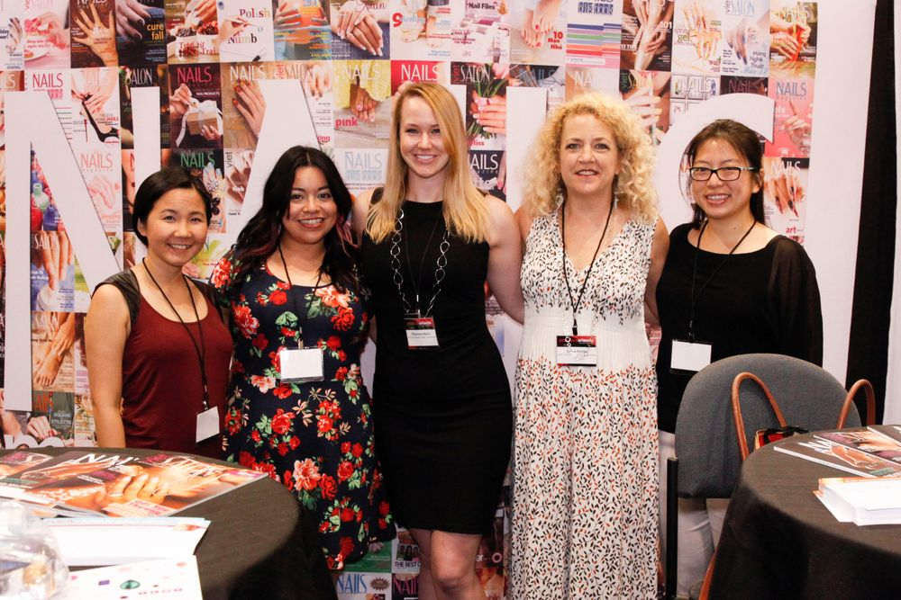 <p>The NAILS/VietSALON Team &mdash; Anh Tran, Sigourney Nu&ntilde;ez, Shannon Rahn, Erika Kotite, and Kim Pham</p>