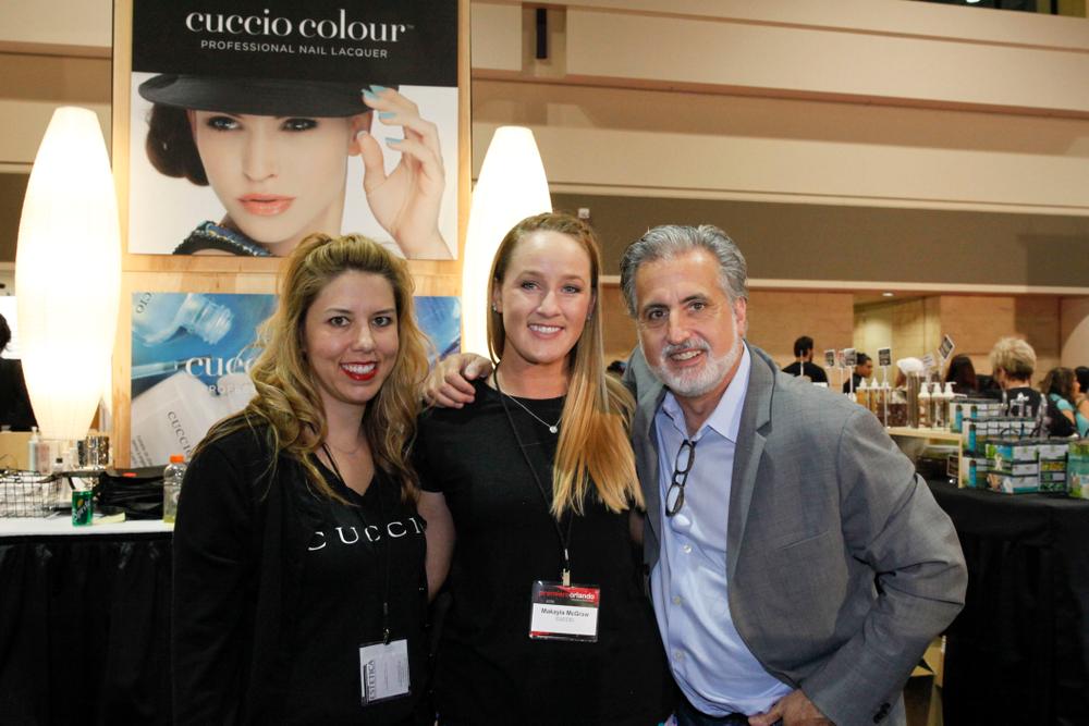 <p>Cuccio's Arica Carpenter, Makayla McGraw, and Robert Novak</p>