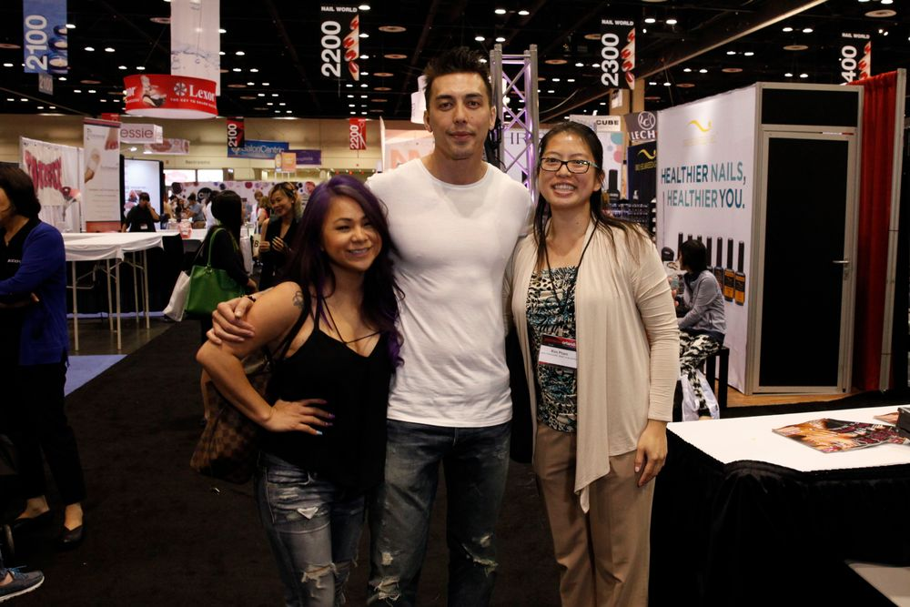 <p>Huong Lu and Billy Nguyen with VietSALON's Kim Pham</p>