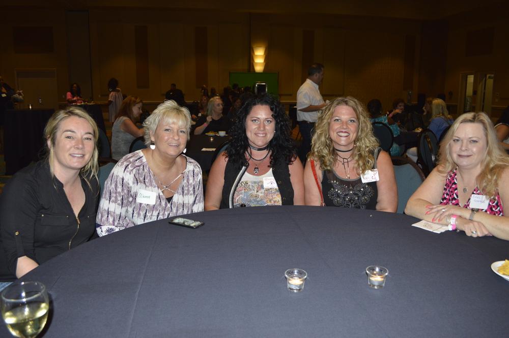 <p>Julie Garrison, Wendy Carlson, Brandy Gum, Lorri Nicki Voltmee, and Cherie Scarvelis</p>