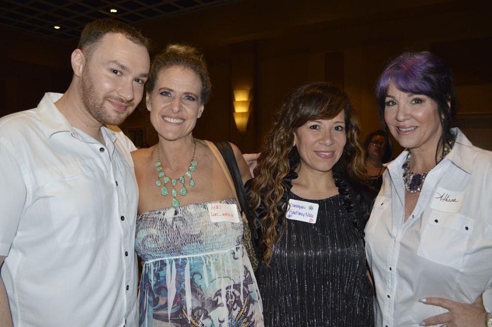 <p>Braden Jahr, Lori Annstos, Danalynn Stockwood, and AthenA Elliott</p>