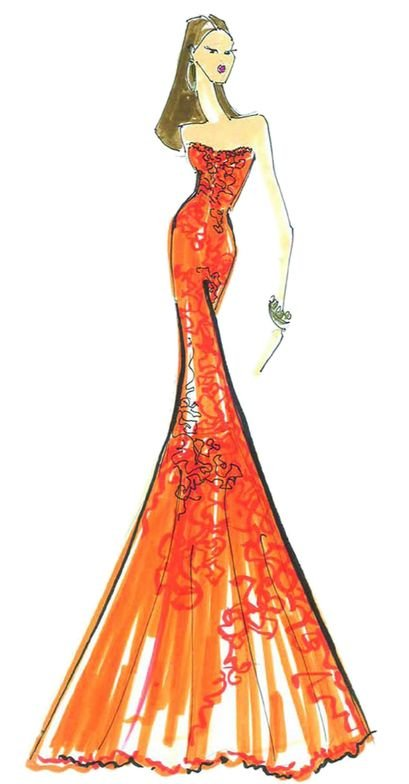 <p><strong>Nectarine</strong>, a bright, effervescent citrus orange with coral undertones, provides a tangy burst of flavor.<em> Illustration by David Meister. Originally appeared in The Pantone Fashion Color Report Spring 2013.</em></p>