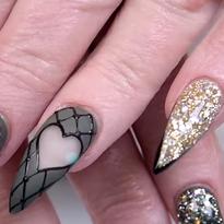 Negative Space Heart Nail Art Tutorial