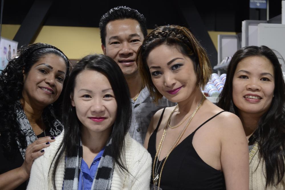 <p>Tina Ho, Scott Lau, Lanny Than, Joanne Tang of NexGen Nails.</p>