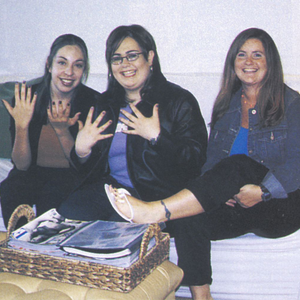 Left to right: NAILS' editor Patricia Oropeza, Nicole Schaeffer, and NAILS' editor Hannah Lee