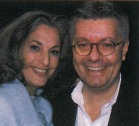 <p>Essie Cosmetics' Essie Weingarten and Max Sortino take time from promoting the polish lines that bear their names to enjoy the crowd.</p>