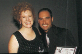 """<p>Educator of the Year runner-up Louis Mattassi gives Cyndy Drummey a squeeze. The two go """"way back,"""" to when Mattassi introduced himself at a show and talked to our editor/publisher about getting more coverage of Latin American salon issues and a Spanish language version of NAILS.</p>"""